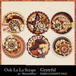 Grateful Cluster Seals Pack-$1.99 (Ooh La La Scraps)