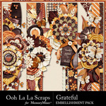 Grateful Page Borders Pack-$1.40 (Ooh La La Scraps)