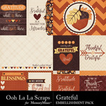 Grateful Pocket Cards Pack-$1.99 (Ooh La La Scraps)