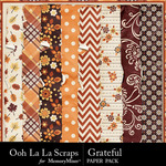 Grateful Worn and Torn Papers-$1.99 (Ooh La La Scraps)