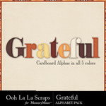Grateful Alphabet Pack-$3.49 (Ooh La La Scraps)