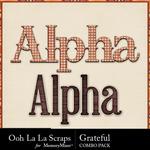 Grateful kit alphabets small