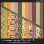 WonderFALL Pattern Paper Pack-$3.99 (Jumpstart Designs)
