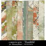 Thankful CK Messy Paper Pack-$3.99 (Carolyn Kite)