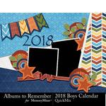 2018 Boys Calendar-$8.99 (Albums to Remember)