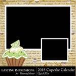 2018 Cupcake Calendar-$5.99 (Lasting Impressions)