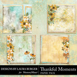 Thankful Moments Stacked Paper Pack-$4.99 (Laura Burger)