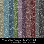 beYOUtiful Glitter Sheets Pack-$3.99 (Tami Miller)