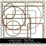 My Wish Tinsel Frames Pack-$2.99 (Carolyn Kite)