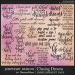 Chasing Dreams WordArt Pack-$2.80 (Jumpstart Designs)