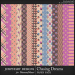 Chasing Dreams Pattern Paper Pack-$3.99 (Jumpstart Designs)