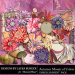 Autumns Mosaic of Colors Embellishments-$3.49 (Laura Burger)