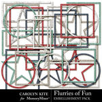 Flurries of Fun CK Frames Pack-$2.99 (Carolyn Kite)
