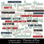 Flurries of Fun CK WordArt Pack-$2.10 (Carolyn Kite)