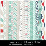 Flurries of Fun CK Paper Pack 1-$3.99 (Carolyn Kite)