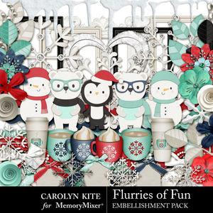 Crk flurries embellishments medium