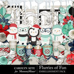Flurries of Fun CK Embellishments-$3.49 (Carolyn Kite)