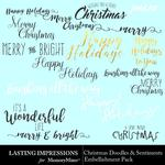 Christmas Sentiments and Doodles Pack-$0.00 (Lasting Impressions)