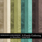 A Family Gathering Solid Paper Pack-$2.99 (Laura Burger)