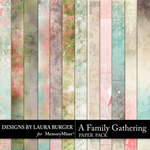 A Family Gathering Grunge Paper Pack-$3.99 (Laura Burger)