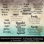 A Family Gathering WordArt Pack-$2.99 (Laura Burger)
