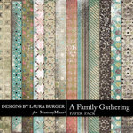 A Family Gathering Pattern Paper Pack-$3.99 (Laura Burger)