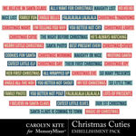 Christmas Cuties WordStrips Pack-$2.10 (Carolyn Kite)
