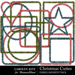Crk christmascuties tinselpack medium