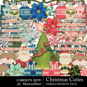 Crk christmascuties embellishmentspack medium