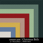 Christmas Bells Embossed Paper Pack-$1.99 (Lindsay Jane)