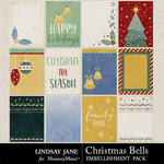 Christmas Bells Journal Cards Pack-$1.99 (Lindsay Jane)