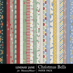 Christmas Bells Paper Pack-$1.99 (Lindsay Jane)
