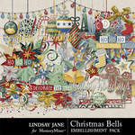 Christmas Bell Embellishment Pack-$3.49 (Lindsay Jane)