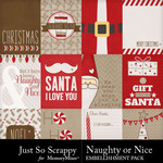 Naughty or nice pocket cards small