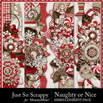 Naughty Or Nice Page Borders Pack-$2.99 (Just So Scrappy)