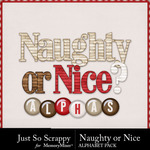Naughty Or Nice Alphabet Pack-$1.99 (Just So Scrappy)