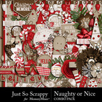 Naughty Or Nice Combo Pack-$2.49 (Just So Scrappy)
