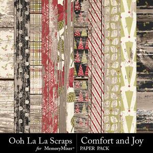 Comfort and joy wood papers medium