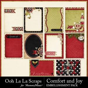 Comfort and joy journal cards medium