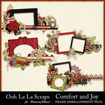 Comfort and Joy Border Frames Pack-$0.99 (Ooh La La Scraps)