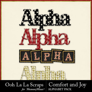 Comfort and joy alphabets medium