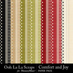 Comfort and Joy Pattern Paper Pack-$1.49 (Ooh La La Scraps)