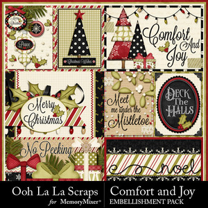 Comfort and joy 3d cards medium