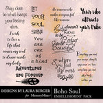 Boho Soul WordArt Pack-$4.99 (Laura Burger)