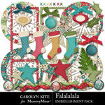 Falalalala Embellishment Pack 2-$4.99 (Carolyn Kite)