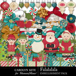 Falalalala Embellishment Pack 1-$4.99 (Carolyn Kite)