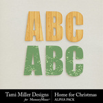 Home for Christmas Alphabet Pack-$3.99 (Tami Miller)