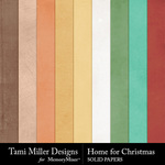 Home for Christmas Solid Papers-$1.99 (Tami Miller)