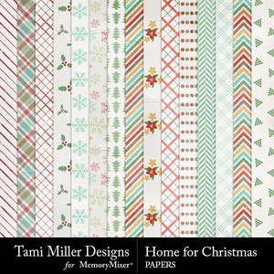 Home for christmas papers medium