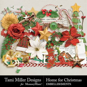 Home for christmas embellishments medium